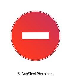 No Entry traffic sign. Vector illustration