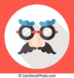 party funny mask flat icon