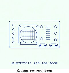 Icon of electrical measuring instrument. Vector illustration...