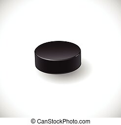Hockey puck. Illustration 10 version