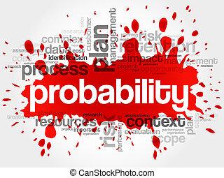 Probabilidad, palabra, nube,