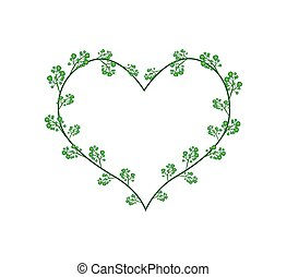 Flowers of Neem in A Heart Shape - Love Concept,...