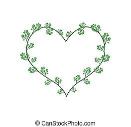 Flowers of Neem in A Heart Shape - Love Concept,...
