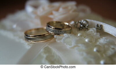 Two wedding rings - Two wedding ring on a beautiful...