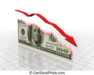 Financial Recession - Business graph concept images