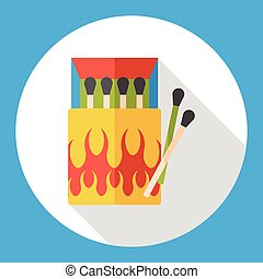 fire match flat icon