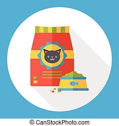 cat food flat icon