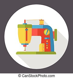 sewing machine flat icon