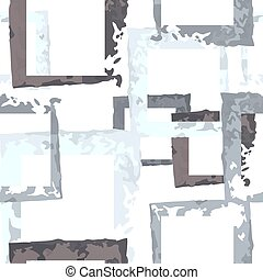 Abstract grunge ink strokes vector seamless pattern -...