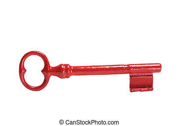 Skeleton Key on Isolated White Background