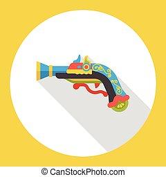 gun weapon flat icon