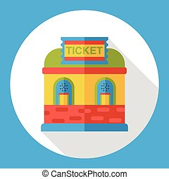 ticket office flat icon