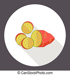vegetable Sweet potato flat icon