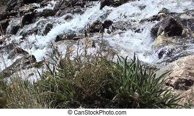 Mountain torrent running down - A mountain torrent running...