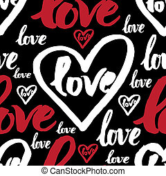 seamless pattern with sign LOVE - Vector handwritten...