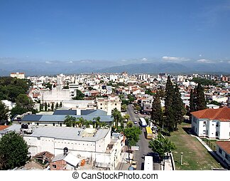 View over the city of Salta - View over the city of salta in...
