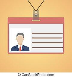 Flat design name tag badge template - Flat design name tag...