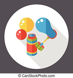 blowing bubbles flat icon