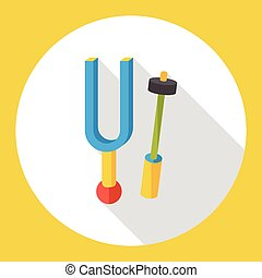 tuning fork flat icon