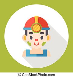 worker man flat icon