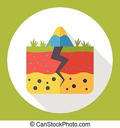 land soil flat icon
