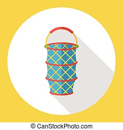 fishing net flat icon