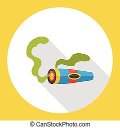 cigarette smoke flat icon