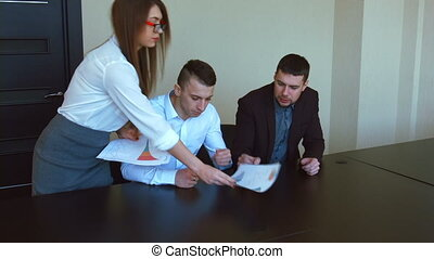 Business people meeting in office - Business people in the...
