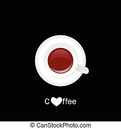 cup of coffe illustration on black