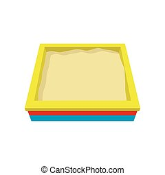 Sandbox cartoon icon. Single symbol of a playground isolated...