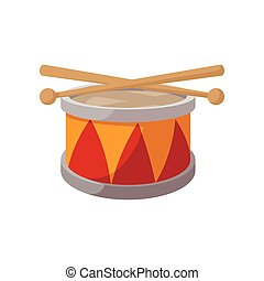 Toy drum cartoon icon