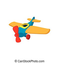 Toy plane cartoon icon