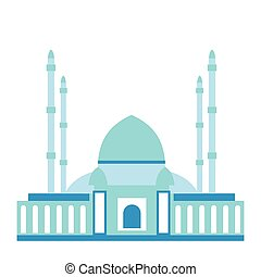 Mosque flat icon isolated on white background