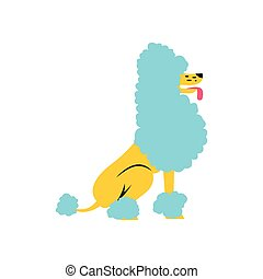 Circus poodle flat illustration - Circus poodle flat icon...