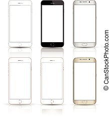 smartphone collection iphon style - New realistic mobile...