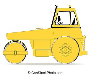 Modern Road Roller - A modern diesel engine road roller over...