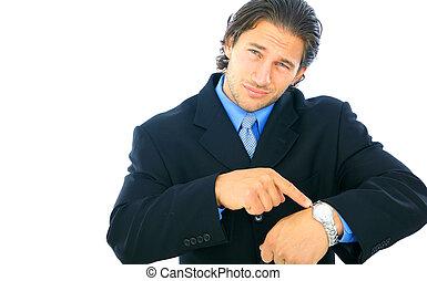 decepcionado, joven, macho, hombre de negocios