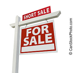 Short Sale Real Estate Sign - Right