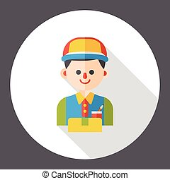 saleman occupation character flat icon