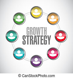 Growth Strategy global network sign illustration design...