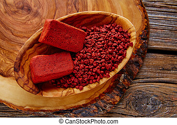 achiote, assaisonnement, annatto, graine, Mexique,...
