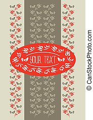 Template with traditional Hungarian floral motif with...