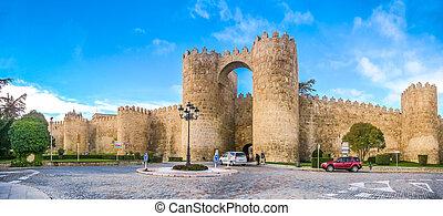 Historic walls of Avila, Castilla y Leon, Spain
