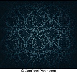 Dark blue wallpaper - Vector illustration of dark blue...
