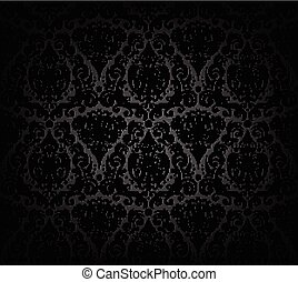 Black wallpaper pattern