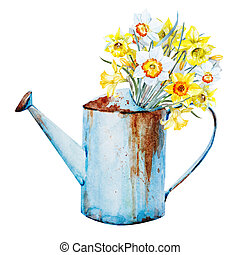 Watercolor spring flowers - Beautiful image with nice...