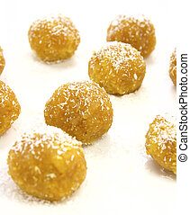 Indian sweet – laddoo - Traditional indian sweet – laddoo on...