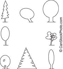 wood outline set
