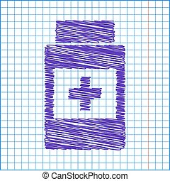 Scribble icon on the school paper