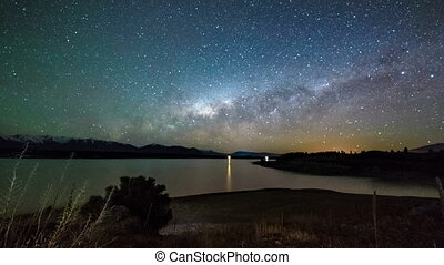 Milky Way Above Lake Pukaki, PD - Milky Way Above Lake...